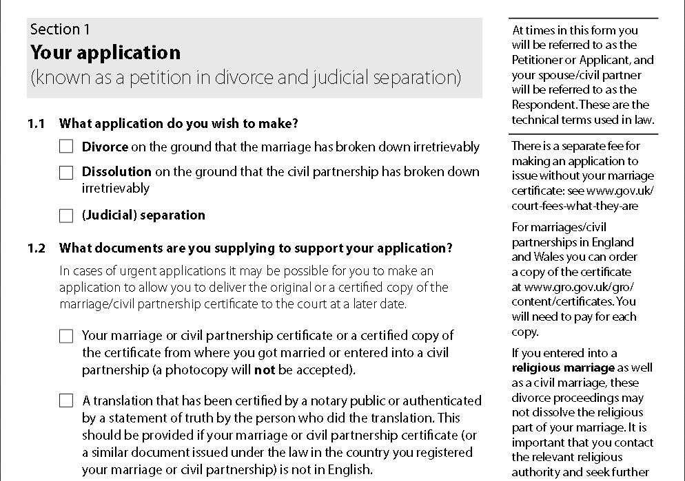 Cflp Reviews New Divorce Application Form  Cambridge Family Law